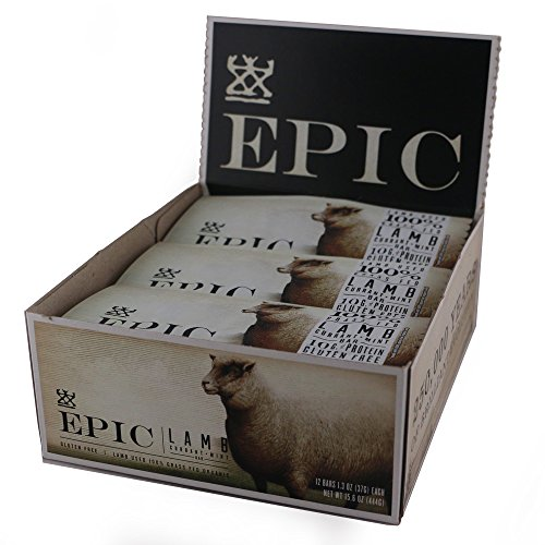 Epic All Natural Meat Bar, 100% Natural, Lamb, Currant & Mint, 1.5 ounce, 12 Count